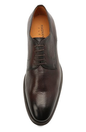 Мужские кожаные дерби MAGNANNI темно-коричневого цвета, арт. 21251/RUG0ARCADE   Фото 5 (Материал внутренний: Натуральная кожа; Стили: Классический)