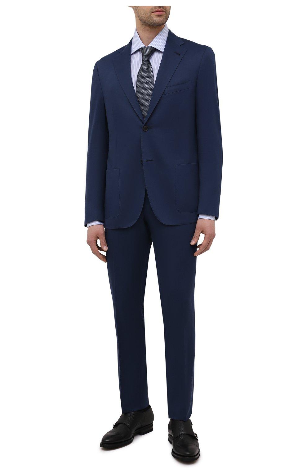 Мужские кожаные монки MAGNANNI черного цвета, арт. 21253/RUG0ARCADE | Фото 2 (Материал внутренний: Натуральная кожа; Стили: Классический)