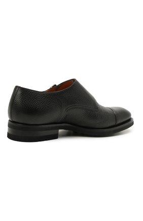 Мужские кожаные монки MAGNANNI черного цвета, арт. 21253/RUG0ARCADE | Фото 4 (Материал внутренний: Натуральная кожа; Стили: Классический)