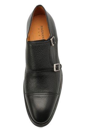 Мужские кожаные монки MAGNANNI черного цвета, арт. 21253/RUG0ARCADE | Фото 5 (Материал внутренний: Натуральная кожа; Стили: Классический)