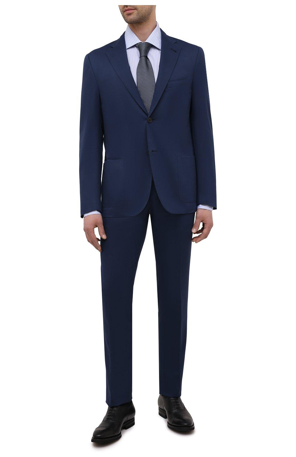 Мужские кожаные оксфорды MAGNANNI черного цвета, арт. 21255/B0LTIARCADE | Фото 2 (Мужское Кросс-КТ: Броги-обувь; Материал внутренний: Натуральная кожа; Стили: Классический)