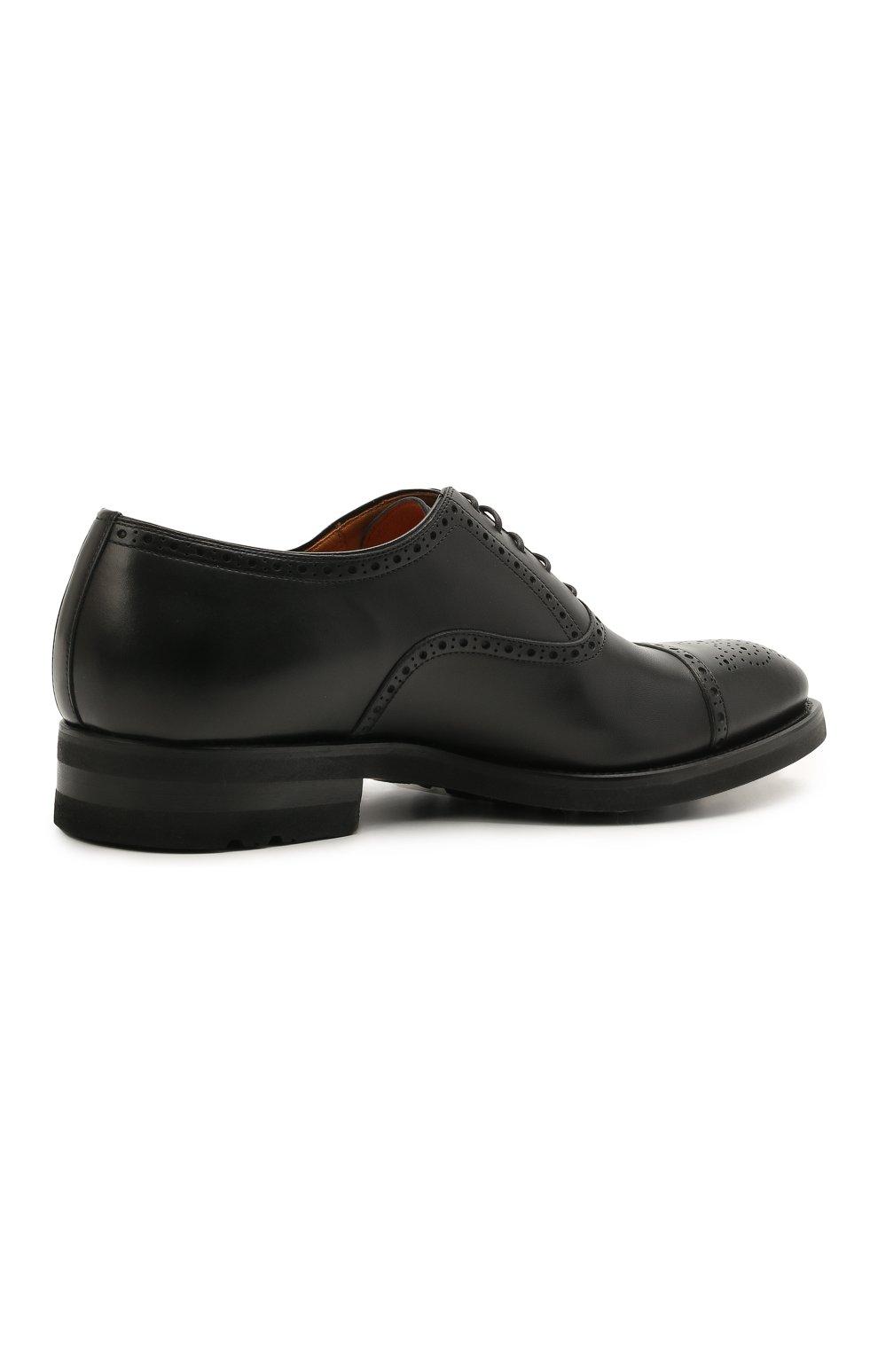 Мужские кожаные оксфорды MAGNANNI черного цвета, арт. 21255/B0LTIARCADE | Фото 4 (Мужское Кросс-КТ: Броги-обувь; Материал внутренний: Натуральная кожа; Стили: Классический)