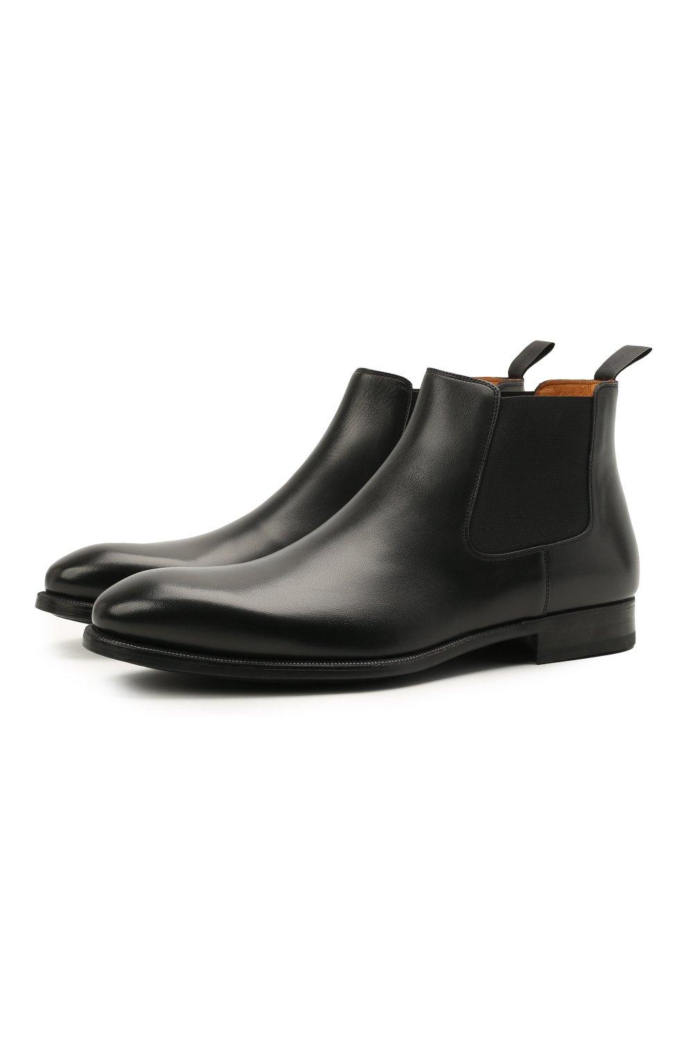 Мужские кожаные челси MAGNANNI черного цвета, арт. 23337/B0LTILUX   Фото 1 (Материал внутренний: Натуральная кожа; Подошва: Плоская)