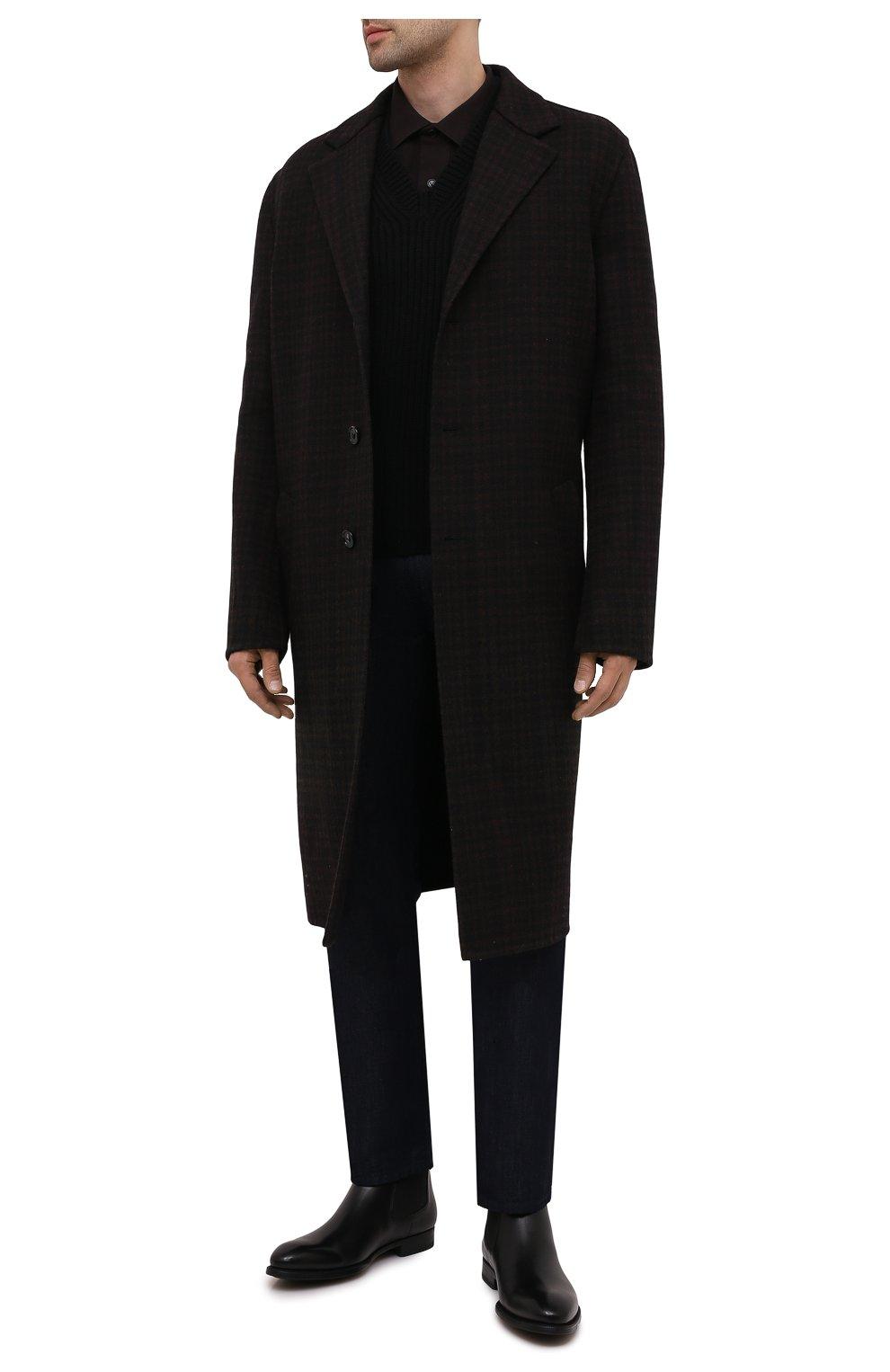 Мужские кожаные челси MAGNANNI черного цвета, арт. 23337/B0LTILUX   Фото 2 (Материал внутренний: Натуральная кожа; Подошва: Плоская)