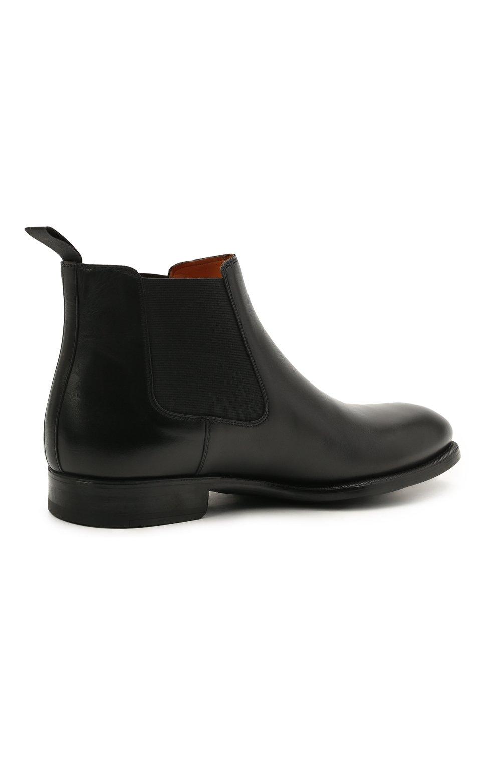 Мужские кожаные челси MAGNANNI черного цвета, арт. 23337/B0LTILUX   Фото 4 (Материал внутренний: Натуральная кожа; Подошва: Плоская)