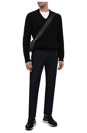 Мужские кожаные кроссовки MAGNANNI черного цвета, арт. 23728/CR0STA/B0LTAN | Фото 2