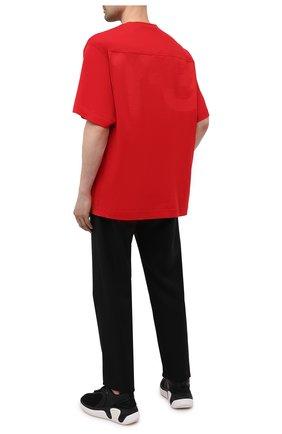 Мужская хлопковая футболка Y-3 красного цвета, арт. GV4187/M | Фото 2 (Стили: Спорт-шик; Материал внешний: Хлопок; Рукава: Короткие; Принт: С принтом; Длина (для топов): Удлиненные)