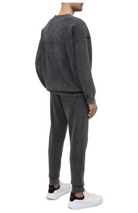 Мужской хлопковый свитшот RELIGION темно-серого цвета, арт. 11TAEW37   Фото 2