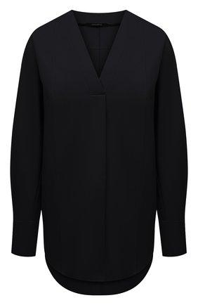Женская хлопковая блузка DANIILBERG черного цвета, арт. BL001.20 | Фото 1