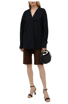 Женская хлопковая блузка DANIILBERG черного цвета, арт. BL001.20 | Фото 2