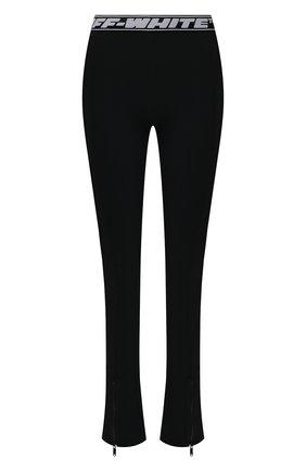 Женские леггинсы OFF-WHITE черного цвета, арт. 0WVG022S21JER002 | Фото 1