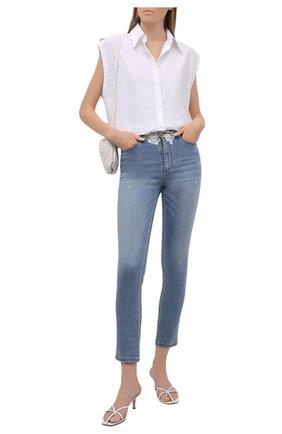 Женские джинсы ERMANNO FIRENZE голубого цвета, арт. D38ET JL050PR | Фото 2