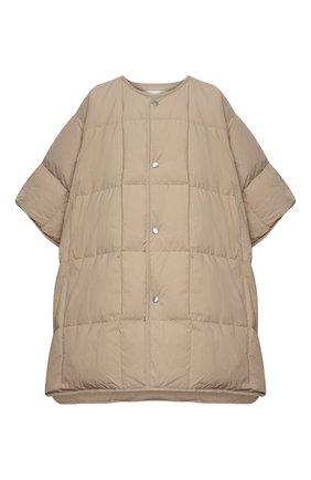 Женская пуховая куртка JIL SANDER бежевого цвета, арт. JPPS440194-WS460800 | Фото 1 (Стили: Кэжуэл; Кросс-КТ: Куртка, Пуховик; Материал внешний: Синтетический материал; Материал подклада: Синтетический материал; Материал утеплителя: Пух и перо; Длина (верхняя одежда): До середины бедра; Рукава: 3/4)