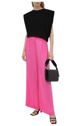 Женские шелковые брюки FORTE_FORTE розового цвета, арт. 8230 | Фото 2