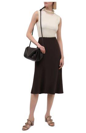Женские кожаные мюли rockstud VALENTINO бежевого цвета, арт. VW0S0C47/PZD | Фото 2 (Подошва: Плоская; Каблук тип: Устойчивый; Каблук высота: Средний; Материал внутренний: Натуральная кожа)