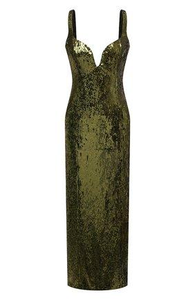 Женское платье с пайетками GALVAN LONDON зеленого цвета, арт. 220SEDR0066   Фото 1