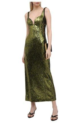 Женское платье с пайетками GALVAN LONDON зеленого цвета, арт. 220SEDR0066   Фото 2