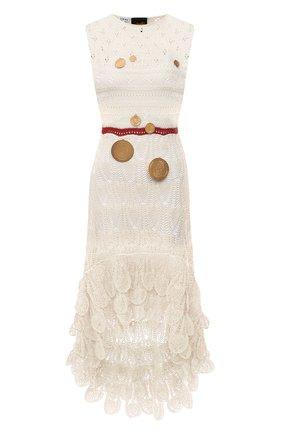 Женское хлопковое платье loewe x paula's ibiza LOEWE кремвого цвета, арт. S616Y15K04 | Фото 1 (Случай: Повседневный; Материал подклада: Синтетический материал; Материал внешний: Хлопок; Женское Кросс-КТ: Платье-одежда; Стили: Бохо; Длина Ж (юбки, платья, шорты): Миди; Кросс-КТ: Трикотаж)