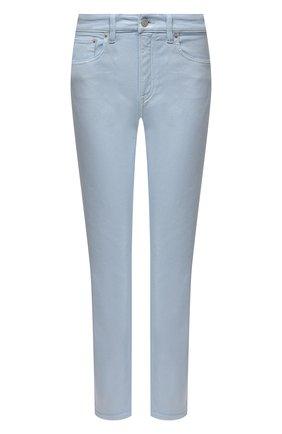 Женские джинсы RALPH LAUREN голубого цвета, арт. 290840803 | Фото 1 (Длина (брюки, джинсы): Стандартные; Силуэт Ж (брюки и джинсы): Узкие; Материал внешний: Хлопок; Детали: Потертости; Стили: Кэжуэл; Кросс-КТ: Деним)