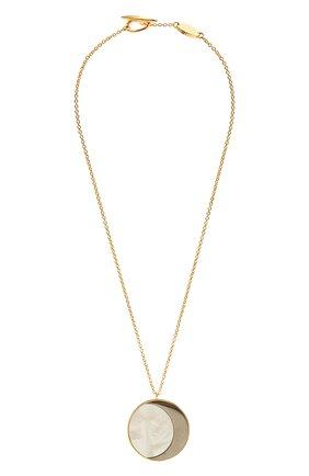 Женская кулон на цепочке loewe x paula's ibiza LOEWE золотого цвета, арт. J646241X50 | Фото 1 (Материал: Металл)