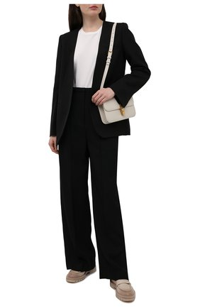 Женские кожаные пенни-лоферы SANTONI бежевого цвета, арт. WUCU59020HL1NLGAE32 | Фото 2