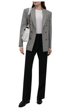 Женские кожаные пенни-лоферы SANTONI черного цвета, арт. WUQC59462BA2NBCKN01 | Фото 2