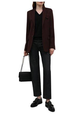 Женская кожаные монки SANTONI черного цвета, арт. WUUD55967SM0NLESN01 | Фото 2