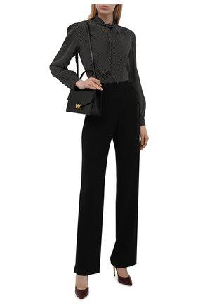 Женские кожаные туфли GIANVITO ROSSI бордового цвета, арт. G28470.15RIC.NAPMERL | Фото 2