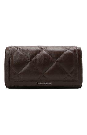 Женская сумка BRUNELLO CUCINELLI темно-коричневого цвета, арт. MB00D2308P   Фото 1
