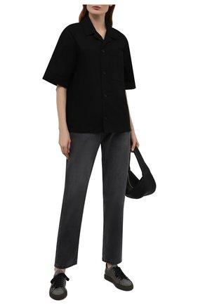 Женские текстильные кеды BRUNELLO CUCINELLI темно-серого цвета, арт. MZ29G2003P | Фото 2 (Материал внутренний: Текстиль, Натуральная кожа; Материал внешний: Текстиль; Подошва: Платформа)