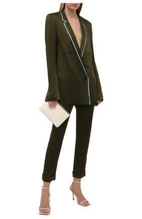 Женские брюки HAIDER ACKERMANN зеленого цвета, арт. 213-1406-138 | Фото 2