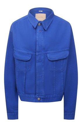Женская джинсовая куртка HERON PRESTON FOR CALVIN KLEIN синего цвета, арт. K10K108253   Фото 1