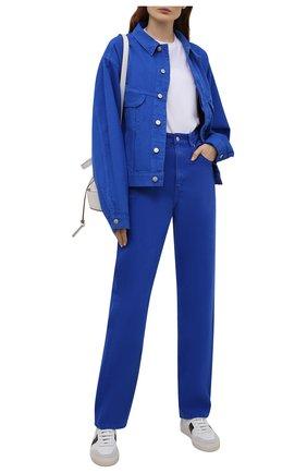 Женская джинсовая куртка HERON PRESTON FOR CALVIN KLEIN синего цвета, арт. K10K108253   Фото 2