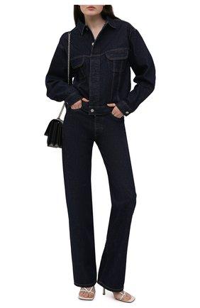 Женская джинсовая куртка HERON PRESTON FOR CALVIN KLEIN темно-синего цвета, арт. K10K108254   Фото 2