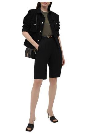 Женская джинсовая куртка HERON PRESTON FOR CALVIN KLEIN черного цвета, арт. K20K203540   Фото 2