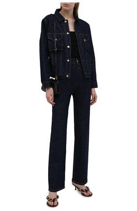 Женская джинсовая куртка HERON PRESTON FOR CALVIN KLEIN темно-синего цвета, арт. K20K203541   Фото 2