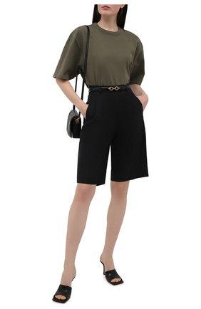Женская хлопковая футболка HERON PRESTON FOR CALVIN KLEIN хаки цвета, арт. K10K108252   Фото 2