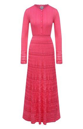 Женское платье из хлопка и вискозы M MISSONI розового цвета, арт. 2DG00569/2K008G   Фото 1