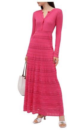 Женское платье из хлопка и вискозы M MISSONI розового цвета, арт. 2DG00569/2K008G   Фото 2