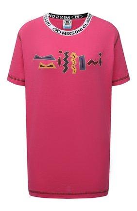 Женская хлопковая футболка M MISSONI розового цвета, арт. 2DL00085/2J005E   Фото 1