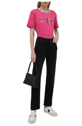 Женская хлопковая футболка M MISSONI розового цвета, арт. 2DL00085/2J005E   Фото 2