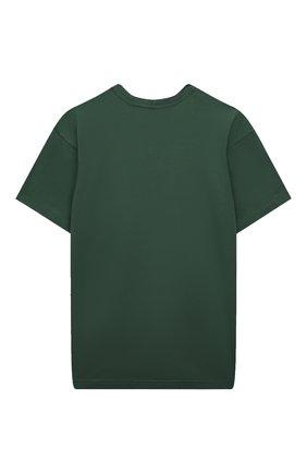 Детская хлопковая футболка MUMOFSIX зеленого цвета, арт. MOSSS21_TS | Фото 2