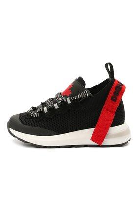 Детские кроссовки DSQUARED2 черного цвета, арт. 68554/T0MAIA/CR0STA/SCUBA/28-35 | Фото 2