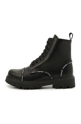 Детские кожаные ботинки DSQUARED2 черного цвета, арт. 68587/RUNNER/36-41 | Фото 2