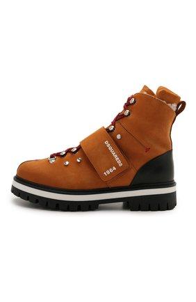 Детские кожаные ботинки DSQUARED2 коричневого цвета, арт. 68594/M0RBID0NE/M0RBID0NE/RUNNER/M0RBID0NE/36-41 | Фото 2
