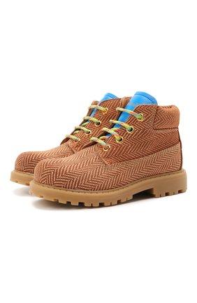Детские кожаные ботинки RONDINELLA коричневого цвета, арт. 11200-7B/6393/28-30 | Фото 1