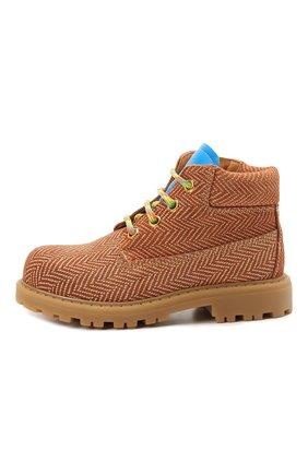 Детские кожаные ботинки RONDINELLA коричневого цвета, арт. 11200-7B/6393/28-30 | Фото 2