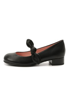 Детские кожаные туфли PRETTY BALLERINAS черного цвета, арт. 49.118/C0T0N | Фото 2