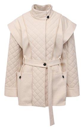 Женская хлопковая куртка RUBAN кремвого цвета, арт. RPS21-2.1.34.10   Фото 1