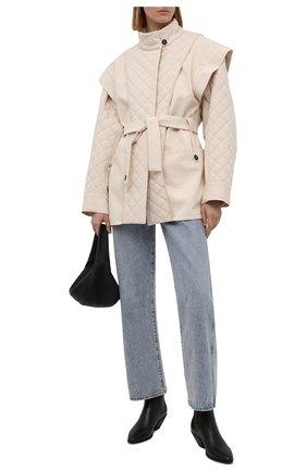 Женская хлопковая куртка RUBAN кремвого цвета, арт. RPS21-2.1.34.10   Фото 2